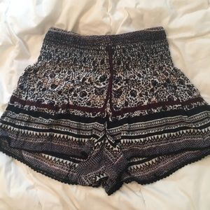 High rise Fabric shorts